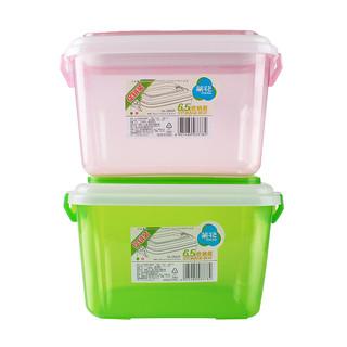 茶花 小号塑料收纳箱 6.5L 共2个