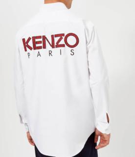 KENZO Reverse Logo 男款休闲衬衫