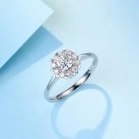 Zocai 佐卡伊珠宝 触电 钻戒结婚求婚戒指群镶钻石女戒
