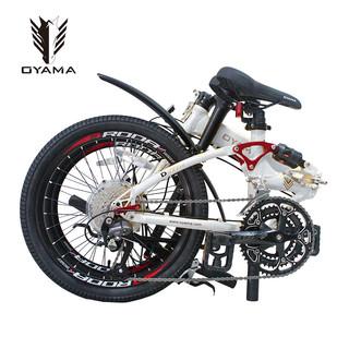 OYAMA 欧亚马 M990HD 27速禧玛诺变速铝合金折叠自行车油碟酷炫 (白色、20英寸、20寸)