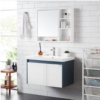 HUIDA 惠达 HDG801-80 现代实木浴室柜组合(含龙头套餐 )