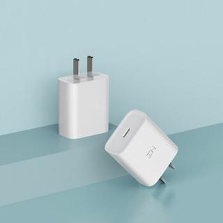 ZMI紫米苹果PD快速单C口充电器Type-C18W快充头支持iphoneXsMax/8/iPad Pro/MacBook华为MateBook等HA711白色