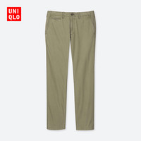 UNIQLO 优衣库 洗旧无褶直筒长裤 413162