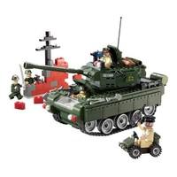 ENLIGHTEN 启蒙 军事系列 823 军事坦克 积木玩具