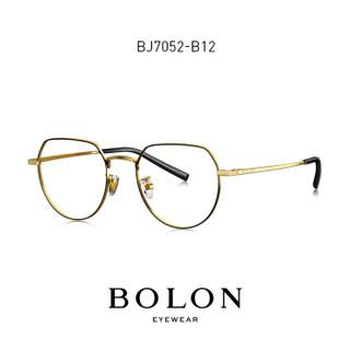 BOLON 暴龙 新款光学镜复古全框王俊凯同款 BJ7052B16+依视路钻晶A41.56 (通用)
