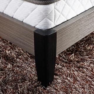LANDBOND 联邦 DS6618-A 布艺双人床 (科技灰、实木、180*200cm、橡胶木、现代简约)