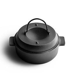 Doruik 德瑞克 手工铸铁加厚烤红薯锅烤锅·25cm·适合4口之家)