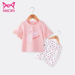 猫人 儿童短袖套装