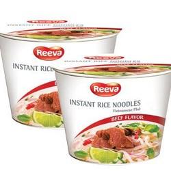 越南进口 阮婆婆(Reeva) 河粉方便面 米面速食 牛肉味方便河粉 碗面两连包 140g(70g*2碗) *7件