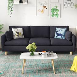 现代简约客厅整装布艺沙发实木框架可拆洗