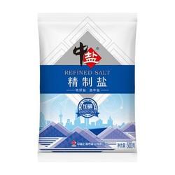 中盐 加碘精制盐 食用细盐 500g *35件