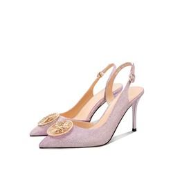 Luiza Barcelos 羊皮一字扣女士高跟鞋
