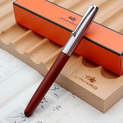 金豪 51A 木杆钢笔 送10墨囊+1笔尖+1笔套