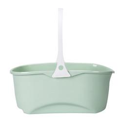 汉世刘家 加厚拖把桶长方形塑料桶平板胶棉清洗桶手提家用洗车水桶 绿色 *3件