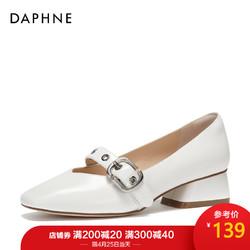 Daphne 达芙妮 春季新款浅口舒适方跟方头玛丽珍鞋单鞋