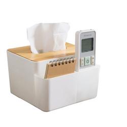 HAGGIS 桌面收纳纸巾盒 家居创意桌面竹木纸巾盒客厅车用纸巾抽纸盒