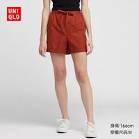 女装 麻棉休闲短裤 413137 优衣库UNIQLO