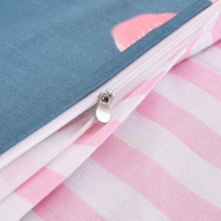 艾薇 被套家纺 纯棉被罩 双人舒适加大全棉被罩 单件 火烈鸟 220*240cm