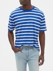 柔软条纹圆领短袖T恤