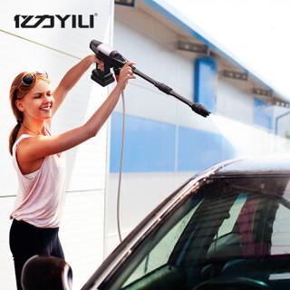 亿力 YILI 家用洗车机 充电式洗车水枪 高压清洗机 锂电洗车神器 洗车泵刷车工具YLQ2010D-B 汽车用品