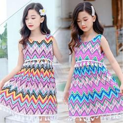 儿童连衣裙 人造棉薄款民族风裙子