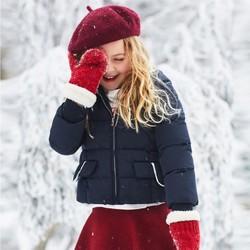 minipeace太平鸟童装女童羽绒服洋气90%白鸭绒短款连帽加厚外套冬