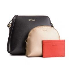 FURLA 芙拉 Boheme系列 女士简约单肩斜挎包+手拿化妆包+卡包 大号  限黑卡用户 *2件