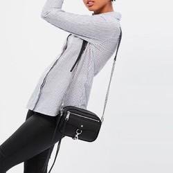 REBECCA MINKOFF 瑞贝卡·明可弗 BLYTHE系列女士荔枝纹皮革拉链单肩斜挎包 *2件