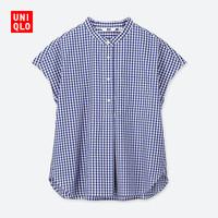 女装 优质长绒棉立领衬衫(短袖) 414164 优衣库UNIQLO