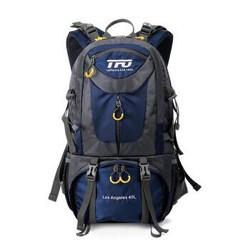 TFO 背包 登山户外背包男女款防泼水透气抗撕裂耐磨双肩户外包910831 深蓝色