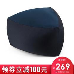 乐品尚居 豆袋懒人沙发 单人躺椅榻榻米三角形卧室布艺沙发椅飘窗沙发 绀青色