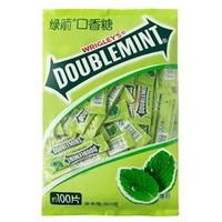 DOUBLEMINT 绿箭 原味薄荷味口香糖 100片 300g
