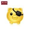 周大福十二生肖猪潮酷海盗猪转运珠黄金吊坠R22328 1586.4元