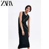 ZARA 05580167800 女装 缝线装饰背带长款连衣裙 99元