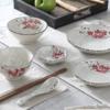 佰润居 雪花釉陶瓷餐具套装 一人食 6件套
