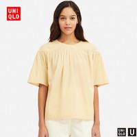 女装 打褶衬衫(短袖) 416364 优衣库UNIQLO