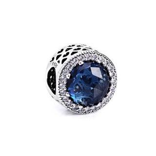 PANDORA 潘多拉 791725NMB Blue Cat's Eye Ornament蓝色猫眼石串饰