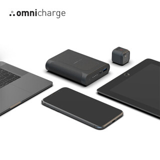 Omnicharge 快充充电宝大容量手机笔记本电脑无线充电商务旅行户外可上飞机便携移动电源 12800 Pro 经典黑色 Omni mobile系列