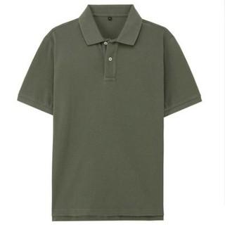 MUJI 无印良品 M8SB712 男式棉珠地网眼POLO衫