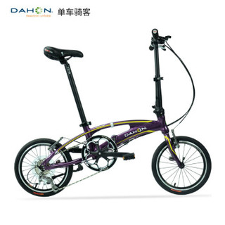 DAHON 大行 SRA683 座管打气折叠自行车铝合金男女休闲运动单车 (白色、16寸、16英寸)