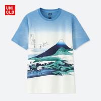 UNIQLO 优衣库 416192 Hokusai Blue印花T恤