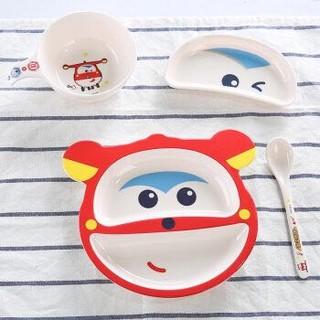 希尔(SHALL)乐迪儿童餐具宝宝密胺餐具套装婴儿辅食碗杯子勺子四件套FX6630