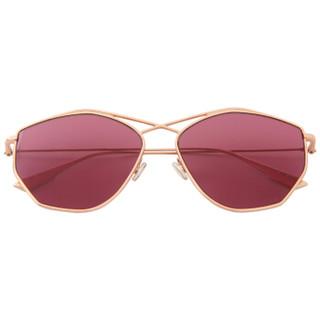 DIOR 迪奥 女款玫瑰金色镜框覆盆子色镜片眼镜太阳镜 Stellaire4 DDBU1 59mm
