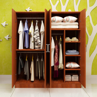 亿宸贵苏 简易组合衣柜 (4门、140cm*50cm*180cm、板材、简约现代)