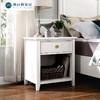 雅居格美式实木床头柜简约组装床头边柜欧式卧室迷你储物柜M0261# 860元