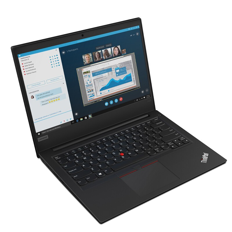 ThinkPad E495(0NCD)14英寸笔记本电脑(R5-3500U、8GB、256GB、Win10)
