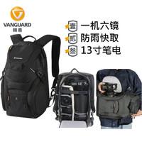 VANGUARD 精嘉 Adopter 双肩微单反专业摄影包一机六镜防盗适马150-600 (黑色、46)