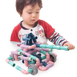 铭塔 MT7062 水管道积木拼装插4男孩子5益智力9宝宝1-2女孩3-6周岁7婴儿童玩具