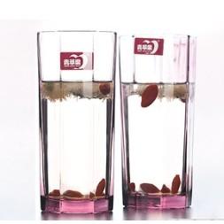 青苹果 玻璃八角杯 270ml*2个