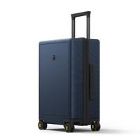 LEVEL8 行李箱女拉杆箱男托运箱24英寸PC箱大容量静音万向轮旅行箱 蓝色